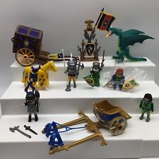 Playmobil Medieval Castle Knight Lot Armor Weapon Stand Dragon Cart Shield Flag