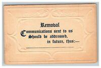 Vintage 1900's Postcard Embossed Address Change Card