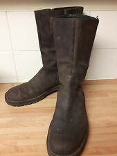 DKNY Men's double zip brown leather boots