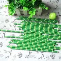 25pcs Creative Bamboo Paper Safari Panda Straws Birthday Wedding Party t