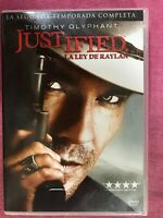 JUSTIFIED SEGUNDA 2ª TEMPORADA COMPLETA SERIE TV 3 x DVD TIMOTHY OLYPHANT  AM