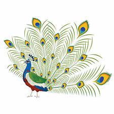Un jour peut-être 24 comestibles papier de riz gâteau cup garnitures-Peacock un ...