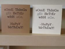 HANDMADE Some Things Get Better With Age Birthday card. Vintage Bold