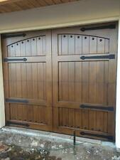 Lafayette Design - [9' x 7'] Spanish Style Custom Mahogany Wood Garage Door