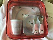 Skip Hop Tabletop Melamine Toddler Plate Bowl Dish Silverware Cup 5 Piece Set