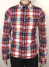 Abercrombie Muscle Size M Men's Shirt Slim Fit L/Sleeve Button Front 100% Cotton