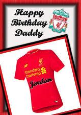 personalised Birthday card football  daughter grandaughter son grandson Dad
