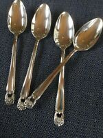 1847 rogers bros silverware eternally yours Set Of 4 Demi Spoons