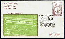 CHILE FDC COVER 1972 # 818 NAVY SAILING SHIP NAVAL SCHOOL #2