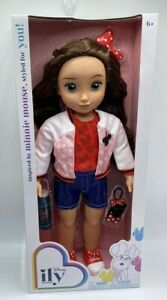 """2021 Disney ILY 4Ever 18"""" Brunette Minnie Mouse Inspired Fashion Doll Age 6+ New"""