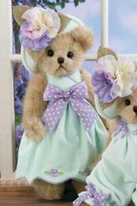 Bearington Plush 14 Inch Bear, Penelope Pansy, Easter, Retired, New/Tag, 143253