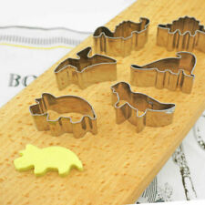 Dinosaur Cookie Cutter Dino Biscuit Pastry Pastry Candy Steel Baking Mold Set