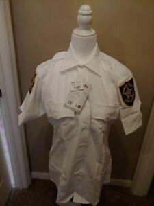 TexTrop2 SHORT SLEEVE  Shirt - White - 14.5 NEW