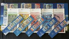 $100 $50 $20 $20 & $5 Next & Old RBA Security Sheets + bookmarks - FULL SET