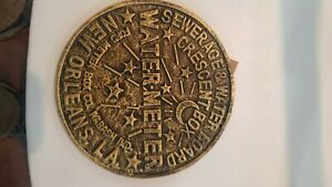 New Orleans cast iron water meter trivet, Replica New orleans sewer cover trivet