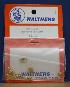 Vintage Walthers 946-134 O Scale Reefer Door Hinges Brass 12 pack NIB