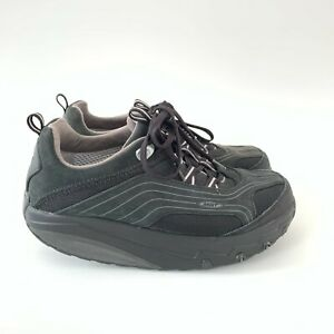 MBT Chapa Caviar Black Walking Toning Rocker Shoes Fitness Trainers, UK 6