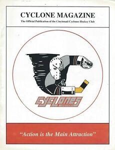 1990-91 Cincinnati Cyclones vs. Knoxville Cherokees ECHL Hockey Program
