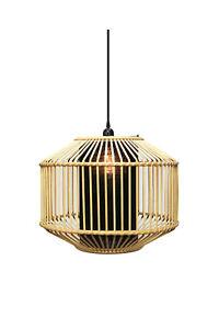 1pce 36x44cm Pendant Light Natural & Black Colour Woven Design Hanging Ceiling D