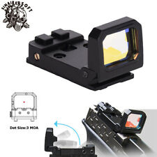 Tactical Flip Red Dot RMR Holographic Reflex Sight Airsoft Pistol Black Hunting