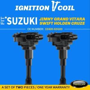 2x Ignition Coils for Suzuki Carry Liana Swift Jimny Grand Vitara Holden Cruze