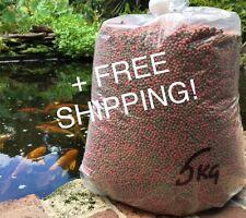 Fish Food Koi - Floating 4mm pellet - 5kg bag - FREE SHIPPING