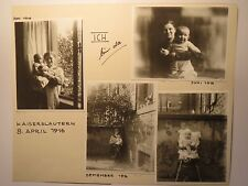 Kaiserslautern - 1916 & 1918 - Wohnung Parkstrasse 23 - Baby + Eltern / 9x Foto