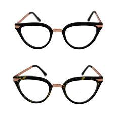 Vintage 50s/60s Style Clear Lens Cat Eye  Retro Rockabilly  Glasses Fancy Dress