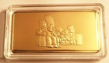 "NEW 10 Gram ""The Simpsons"" Certified Ingot Finished in 999 Fine 24 k Gold"
