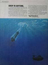 8/88 PUB SANDERS LOCKHEED ASW SYSTEMS SUBMARINE SONAR SYSTEM TRANSDUCER NAVY AD