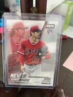 2018 Topps Stadium Club Shohei Ohtani RC Los Angeles Angels Never Compromise