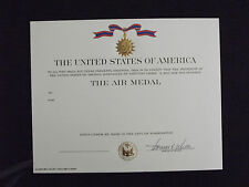 ^ (U05) Original US Urkunde Diplome Certificate Air Medal