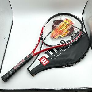 WILSON Titanium Impact Power Bridge Tennis Racquet 4 3/8 Grip w/ Case NEW
