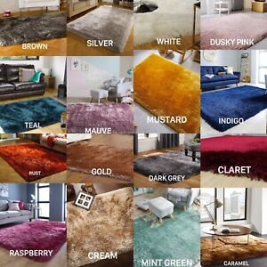 PEARL SILKY THICK HIGH PILE SHAGGY RUGS IN BEAUTIFUL COLOURS AND VARIOUS SIZES