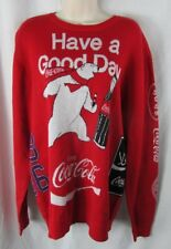 Coca Cola NWT red sweater Polar Bear PacSun L Men English Korean Large
