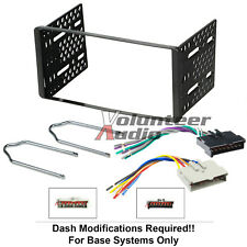 1995-1997 Double Din Radio Mount Kit For Stereo CD Player Install W Wire Harness