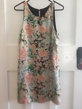 Forever New Silk Chinoiserie Oriental Floral Print Formal Mini Dress Size 10