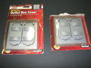 ACE 34405 All Weather Gray Duplex Outlet Box Cover, Qty 2 for 1 price!