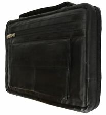 Black Genuine Leather Bible Organizer Book Cover Large Carrying Case USA SELLER