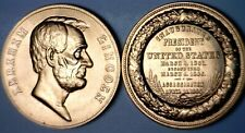 Abraham Lincoln Inaugurated & Assassinated Us Mint Medal Cu Bu Coin Nr