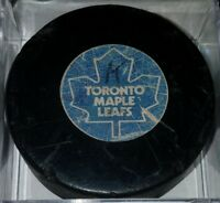1973-83 TORONTO MAPLE LEAFS VINTAGE NHL VICEROY CANADA OFFICIAL GAME USED PUCK