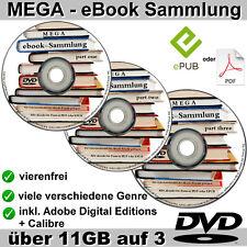 3 DVD's mit 11,5 GB ebooks MEGASAMMLUNG ebook NEU Sammlung für PC Reader etc.