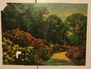 Vintage 1930s Rhododendrons Picture Puzzle Weekly Silver Lining Whimsies