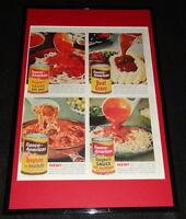 1955 Franco American Spaghetti Framed 11x17 ORIGINAL Advertising Display