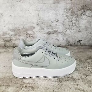 NIKE WOMEN'S Air Force 1 Sage Low 'Smoke Grey' | size 6.5 | CJ1642 001