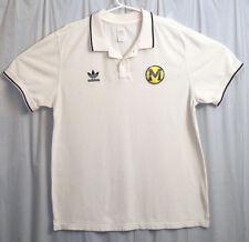 Adidas Trefoil Michigan Wolverines Polo Shirt Men's 2XL Cream Short Sleeve