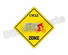 """*Aluminum* Cycle Zone Funny Metal Novelty Sign 12""""x12"""""""