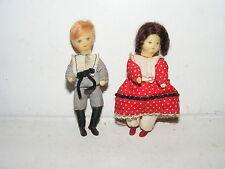 2 x Nostalgie Biegepuppe-Kinder-Erna Meyer-Küche-Puppenhaus-Puppenstube-1:12