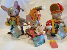 Rare! Htf! New! Mary Engelbreit Joseph Holly Noel Mouse Mice Figures Set/3