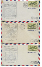 THREE VINTAGE UNITED AIRLINES AIR MAIL ENVELOPE,ONE FIRST DAY COVERS(MAY1,1945)